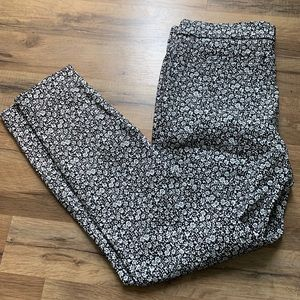 Cute floral print work pants